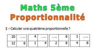 Maths 5ème - La proportionnalité Exercice 1