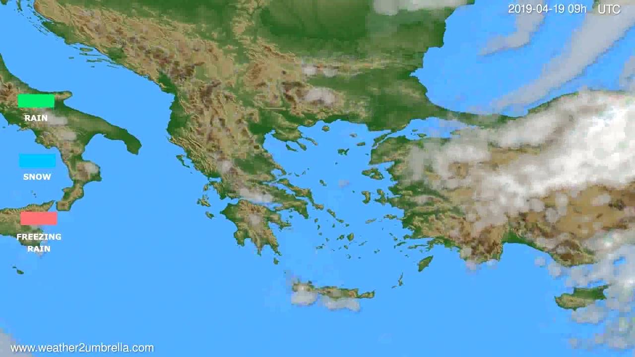 Precipitation forecast Greece // modelrun: 12h UTC 2019-04-17
