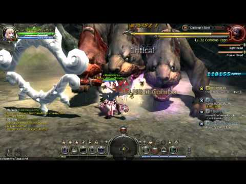 Dragon Nest Thai  - Force User 32 Solo Cerberus no potion 1 death:(