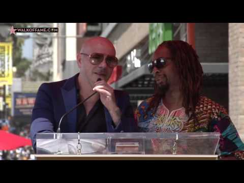Pitbull  Walk of Fame Ceremony
