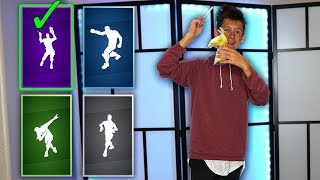 GUESS THE REAL LIFE FORTNITE DANCES CHALLENGE!