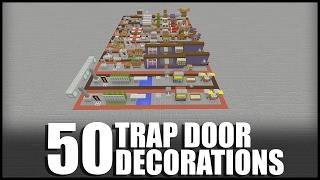 50 Trap Door Decorations in Minecraft