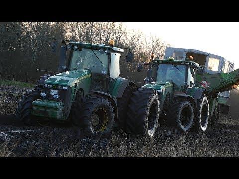 Potato Harvest Extreme | John Deere 8320R & 8530 Working Hard in The Muddy Potato Fields | MUDDING