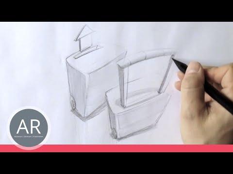 Zeichnen lernen, Akadmie Ruhr, Tutorials, Perspektivisches Zeichnen – Extremperspektive