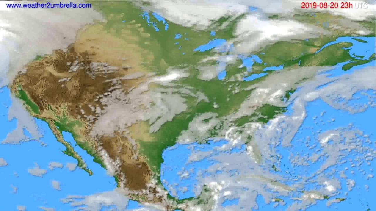 Cloud forecast USA & Canada // modelrun: 12h UTC 2019-08-17