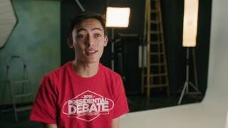 Presidential Debate Student Volunteer Christian Ogata