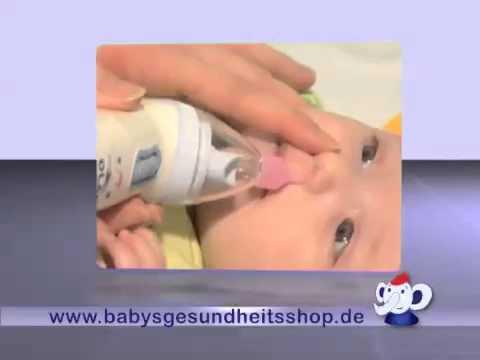 Schnelle Hilfe bei Baby-Schnupfen - OLAF Nasensauger TV-Spot