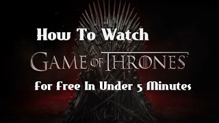 In this tutorial, I show you guys how to watch Game of Thrones episodes completely for free without the need of paying for HBO Go ...