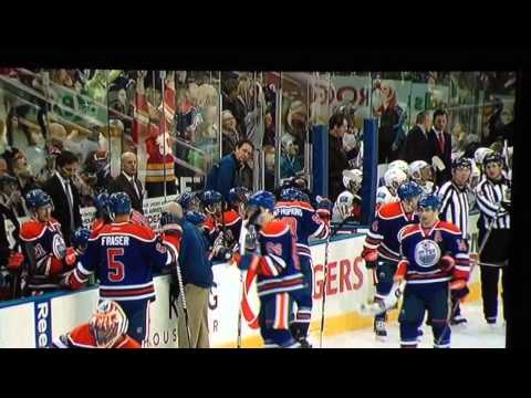 Oilers Jersey Thrown On Ice, Scrivens Throws It Back