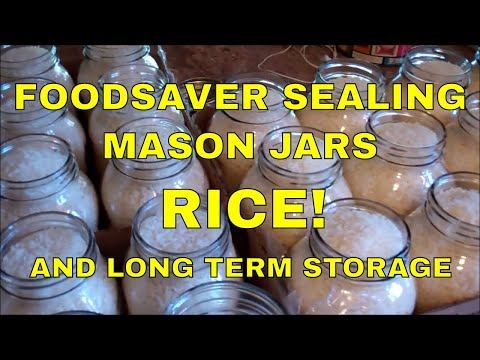 Foodsaver Sealing Mason Jars~Rice And Long Term Food Storage