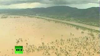 Video of 'biblical' Australia floods aftermath as death toll up to 10