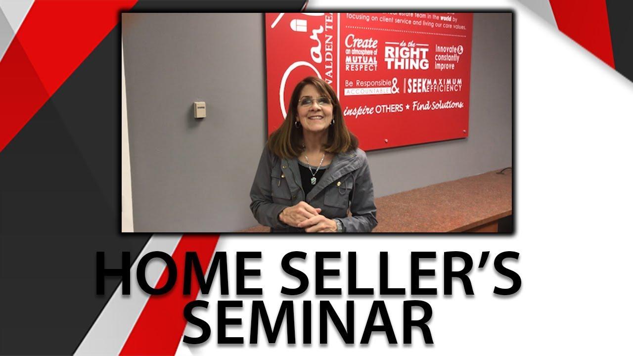 Home Seller's Seminar Final Reminder