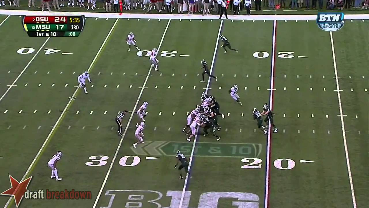 Michael Bennett vs Michigan State (2013)
