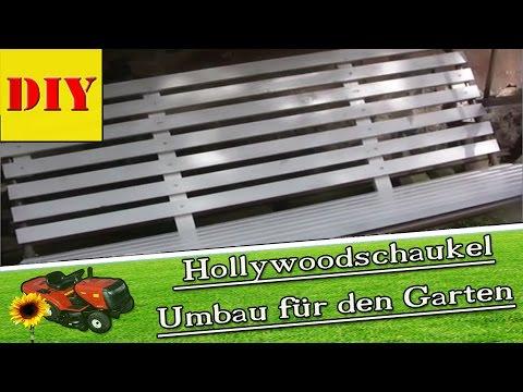 Hollywoodschaukel Stoff gerissen ? Umbau als Gartenbank - Alternative von #ingoderheimwerker