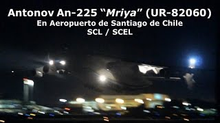 El avión más grande del mundo, el Antonov An-225 Mriya llegó a Chile, al aeropuerto Arturo Merino Benítez, trayendo un transformador eléctrico para la empresa Colbún de 182 toneladas, convitiéndose en la segunda carga más pesada transportada a nivel global y la carga más pesada transportada en sudamérica, lo que marca un hito histórico en la aviación chilena que se vió reflejada con la llegada a las 01:40 am del 16 de noviembre del coloso de los aires por la pista 17L de SCEL y la posterior salida a las 03:10 am del día siguiente con destino Iquique, como escala camino a Houston. Espero disfruten este review de lo que fueron ambos días con el sonido puro del único y más grande avión que vuela por los cielos de la tierra.Vuelos ADB3700 GRU-SCL y ADB304F SCL-IQQ© Juan Carlos BascuñánTodos los derechos reservadosAll rights reserved