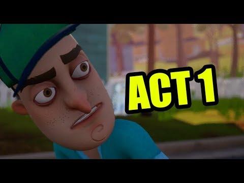 Hello neighbor FULL GAME Act 1