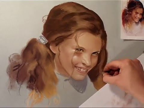 Step by step soft pastel portrait painting cameron diaz mov