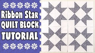 Ribbon Star Quilt Block Tutorial: In this quilting tutorial, we show you how to make the Ribbon Star Quilt Block. This is a quick an easy quilt block but creates quite an impressive look.---TOOLS USED & LINKS MENTIONED IN THIS VIDEO---Add a Quarter Plus Ruler - http://amzn.to/2rtwDsLFrixion Pen - http://amzn.to/2quV5MpOlfa Square Ruler - http://amzn.to/2quHtRtOlfa Rotary Cutter - http://amzn.to/2pYyQKLHow to Square Up Half-Square Triangles - https://youtu.be/eaFOk3ZKrQ0FULL WRITTEN INSTRUCTIONS HERE -  http://www.alandacraft.com/quilt-block-ribbon-star-quilt-block-tutorial[Alanda Craft is a participant in the Amazon Associates Program,  an affiliate advertising program designed to provide a means for sites to earn advertising fees by advertising and linking to amazon.com.]---WATCH MORE QUILT BLOCK TUTORIALS HERE---https://www.youtube.com/playlist?list=PLMxvvtt3Z3CKZx04rEe8Vod1SP1EX767l---FOLLOW US ON---Website: http://www.alandacraft.comFacebook: http://www.facebook.com/alandacraftPinterest: http://www.pinterest.com/alandacraft/Instagram: http://instagram.com/alandacraftTwitter: http://twitter.com/AlandaCraftTumblr: http://www.tumblr.com/blog/alandacraft