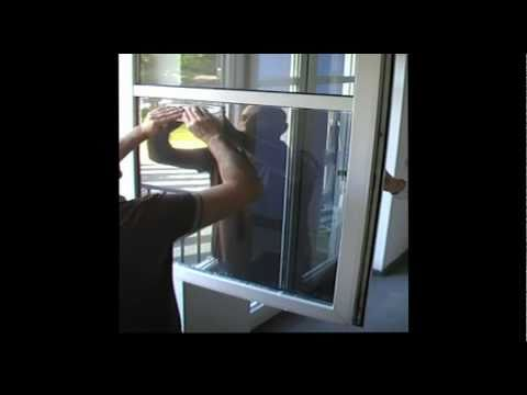 www.folienmarkt.de - Sonnenschutzfolie Silber 80 - Anbringen einer Spiegelfolie