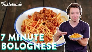 Delicious Bolognese In 7 Minutes | Frankie Celenza by Tastemade