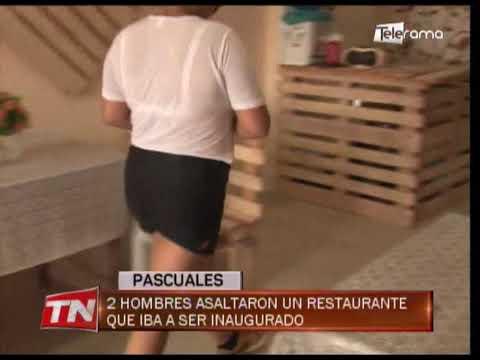 Pascuales 2 hombres asaltaron un restaurante que iba a ser inaugurado