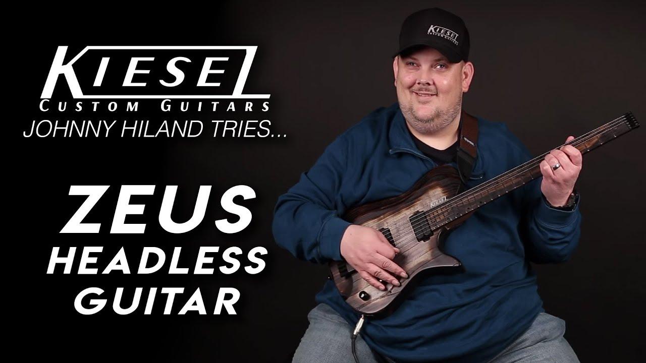Kiesel Guitars – Johnny Hiland tries… Zeus Headless Guitar