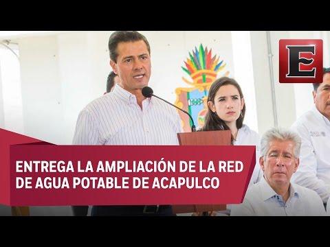 Peña Nieto refrenda su compromiso por mejorar el abasto de agua