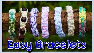 DIY Easy String Bracelets - YouTube