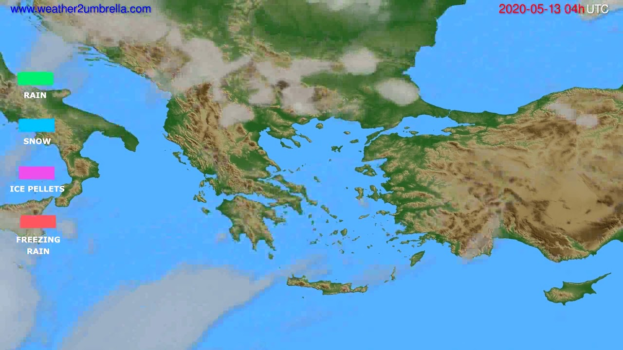 Precipitation forecast Greece // modelrun: 12h UTC 2020-05-12