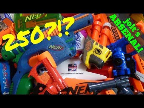 gratis download video - just a jolt Massive Nerf Arsenal 200 guns + World's  Smallest Nerf ...