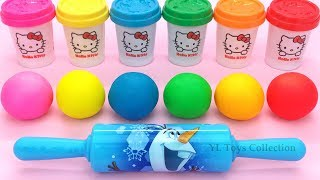 Video Learn Colors Hello Kitty Dough with Ocean Tools and Cookie Molds Surprise Toys Kinder Eggs MP3, 3GP, MP4, WEBM, AVI, FLV Maret 2019