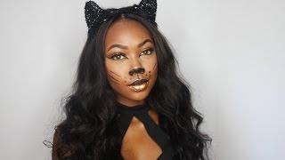 Halloween Glam Cat Makeup Tutorial