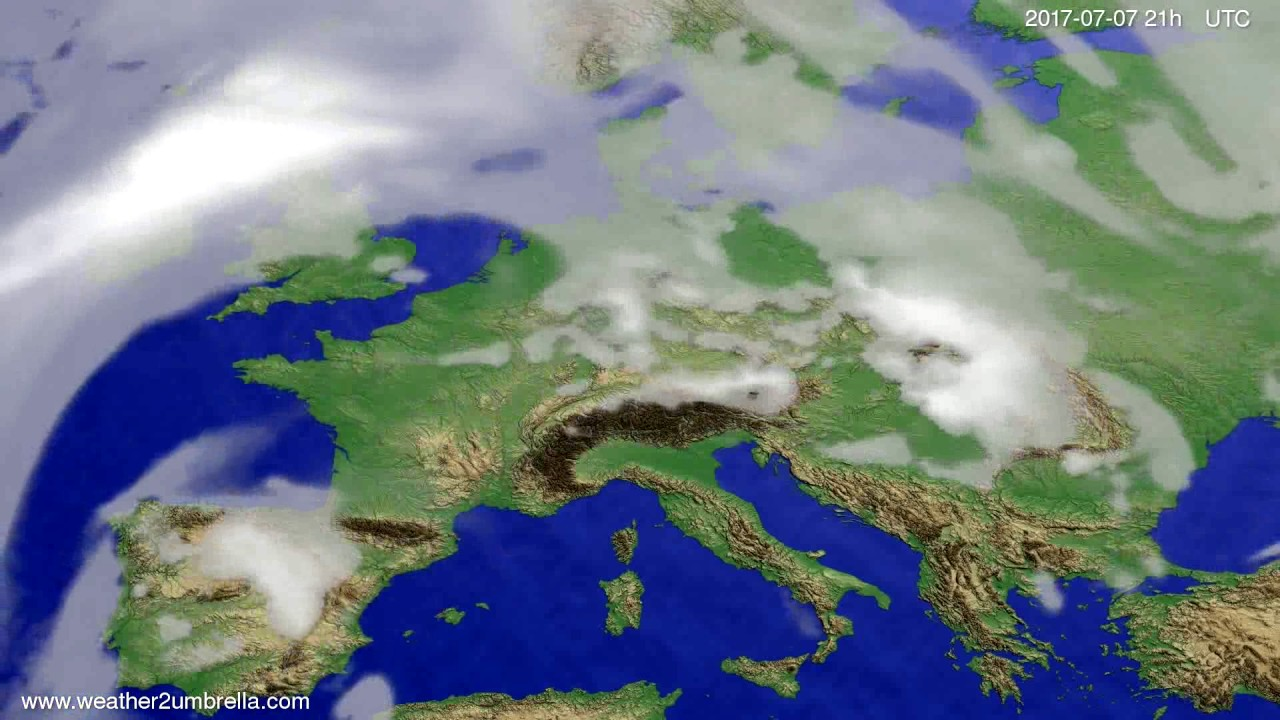 Cloud forecast Europe 2017-07-04