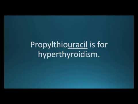 How to pronounce propylthiouracil (PTU) (Memorizing Pharmacology Flashcard)