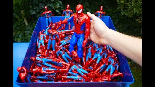 Video SHREDDING 100 SPIDERMAN TOY FIGURES! MP3, 3GP, MP4, WEBM, AVI, FLV Desember 2018