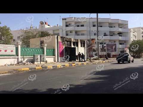 حريق بمحطة كهرباء شارع النصر طرابلس