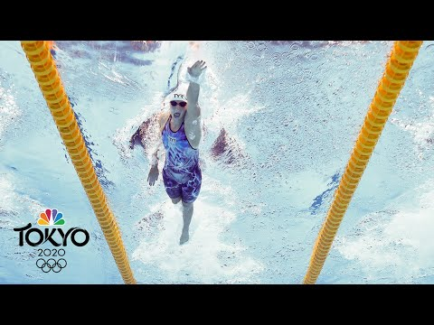 Katie Ledecky bounces back with win in 200m freestyle heat | Tokyo Olympics | NBC Sports