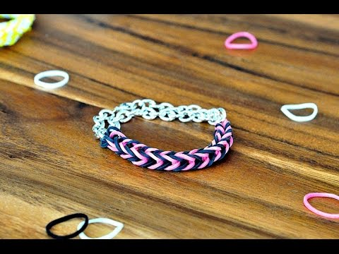Step - Please like and share... How to Make a Fishtail Rainbow Loom Bracelet Step by Step - Rainbow Loom Bracelet - rainbow loom hexafish How to Make a Fishtail Rainbow Loom Bracelet Step by Step...
