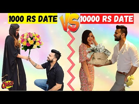 1000 Rs DATE VS 10000 Rs DATE Challenge *Romantic*