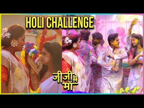 Falguni Accepts Uttara Devi's Challenge | Holi Cel