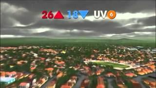 Novo desenho animado da previsão do tempo que a Rede Vanguarda, afiliada da Rede Globo no Vale do Paraiba - SP - Brasil...