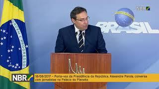 REPÓRTER NBR - 18.08.17: o porta-voz da Presidência da República, Alexandre Parola, anuncia a visita do presidente do Paraguai, Horacio Cartes, na próxima segunda-feira em Brasília.
