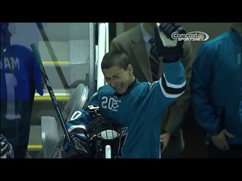 San Jose Sharks Make Fan With Heart Condition, A Member Of The Team. Classy Move San Jose.