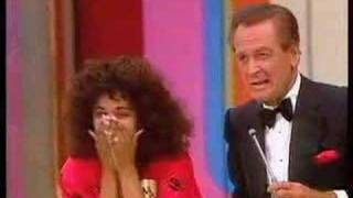 From one of the 1986 TPIR prime time specails, this contestant wins $10,000 then mauls Bob! Includes a consolation prize plug from Rod Roddy.