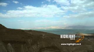 T4K058 Stock footage of Israel: 4K (UHD) time lapse clip of the Dead Sea evaporation pools