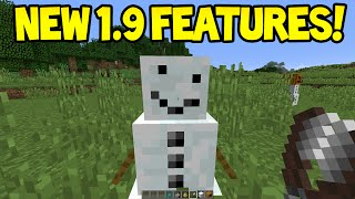 Minecraft 1.9 - New Derpface Snowman, Mob Changes! + More!