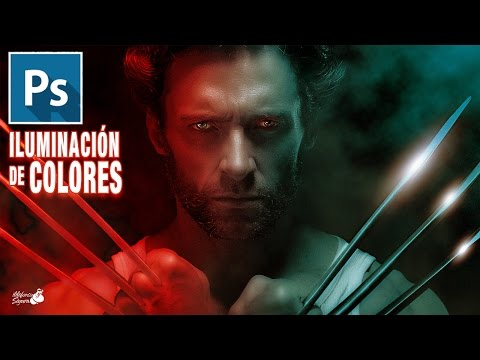 Iluminación De Colores Realista Wallpaper Wolverine // Tutorial Photoshop