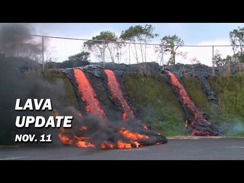 Hawaii Kilauea Volcano Lava Video