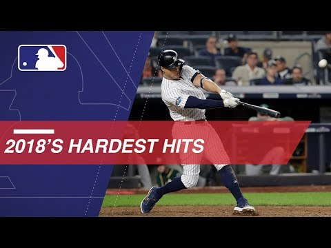 Video: Statcast measures the hardest hits of 2018