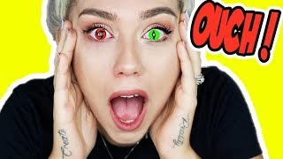 Video I TRIED COLOR CONTACTS FOR THE FIRST TIME! * PANIC ATTACK * MP3, 3GP, MP4, WEBM, AVI, FLV Agustus 2018
